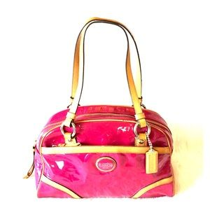 COACH Peyton Embossed Patent Leather pink bag